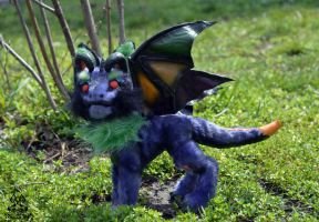 Poseable toy commission for costume-cat by MalinaToys