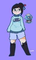 Mei from overwatch (fanmade outfit) by TheGalaxyPeach