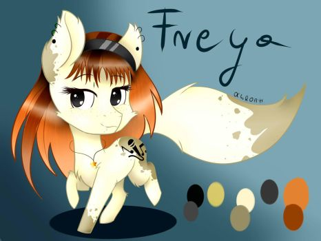 New OC-Freya Pony Fox by KatherineVi