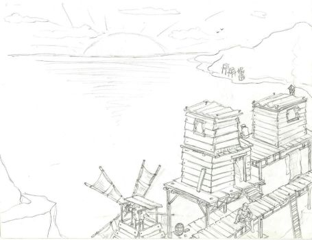 Stilt Village Idea by SwanBurglar