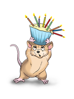 Birthday Mouse by Fireberd904