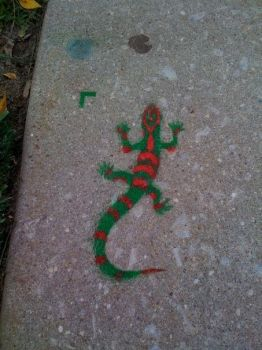 Lizard Stencil by armorforsleepnj