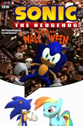 How Sonic Spent His Halloween cover by ErichGrooms3