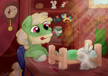 BunnyPony Workshop - comission by mirry92