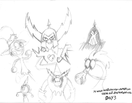 Day 3 Wander Over Yonder characters by PeacockChan