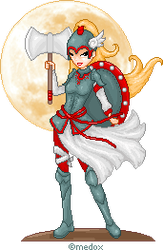 Moon Warrior by Medox-Pixelated