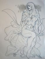 Emma Frost ECCC 2011 by TerryDodson