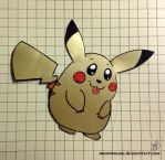 Pikachu Cutout by MeMiMouse