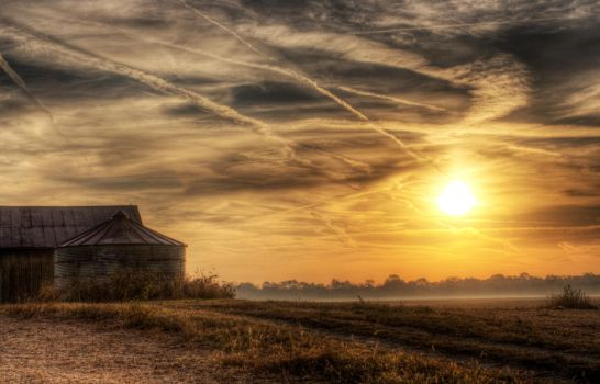 Barn Sunrise by ZachSpradlin