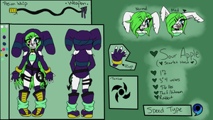 |FC| Sour Apple 2016 Reference Sheet by Mistress-Morbidity