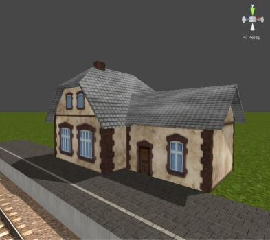 Train Driver 2 Models - Small Train Station by Jakhajay
