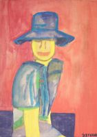Woman With A Blue Hat by GMAC06