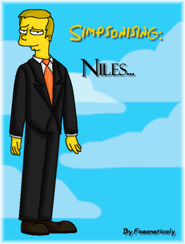 Simpsonising: Niles by Foeaneticaly
