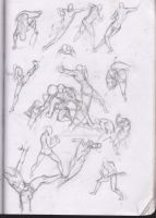 Sketches : Body Studies Foreshortening by Betterifimdeath
