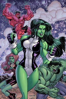She Hulk n the Hulks COLORS by thejeremydale