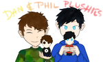 Dan and Phil Plushies by YayPainterGirl16