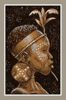 Mini portrait - African girl by Rode-Egel
