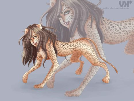 Leopard commission by veika