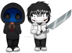 Jeff The Killer y Eyeless Jack en peque