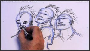 Learn to draw characters in different positions 20 by drawingcourse
