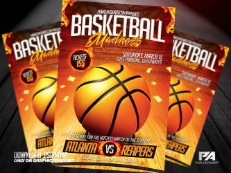Basketball Madness Flyer Template by pawlowskiart