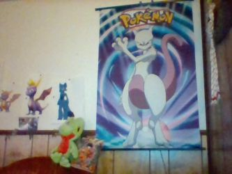 Scroll poster and plushie by BluethornWolf