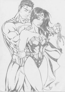 Wonder Woman and Superman by Dannith