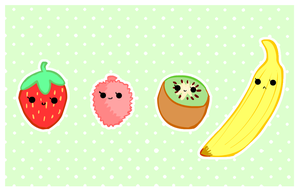 cute foods - fruit selection by purapea
