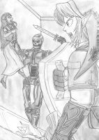 Link VS The Terminator by AltaicTiger