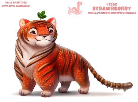 Daily Paint 1960# Strawrberry by Cryptid-Creations