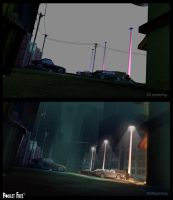 Poulet Free - Mattepainting by Grimhel