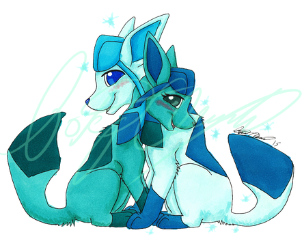 Eeveelution Couples Print: Glaceon by Tatta-doodles
