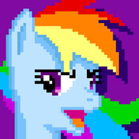 Rainbow Dash (pixel art) by nullkal