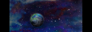 Second Earth Planet with Nebula Blue/Purple/Red by 8FestinaLente8