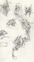 Flight Rising Busts by Quadrupedal