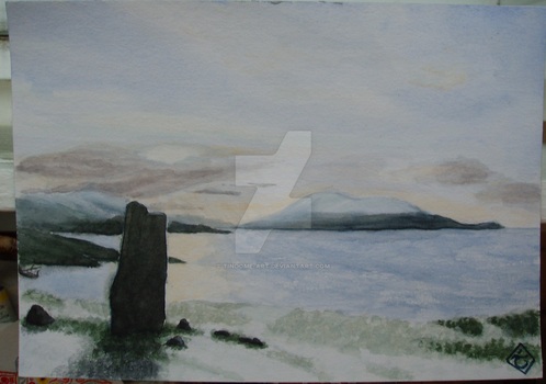 MacLeod's stone, the Hebrides, Scotland by Tindome-Art
