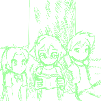 Random Sketch 217: Hanging Out 2 by BigRinth