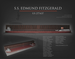 Edmund Fitzgerald Paper Model by RocketmanTan