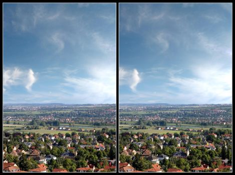 Stereo Cross View Of A Valley by zour