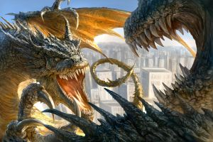 Dragon Fight... WIP 2 by chrisscalf