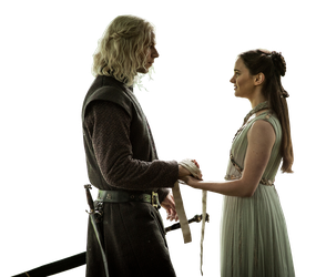 Lyanna Stark and Rhaegar Targaryen PNG by WeirdlySupernatural