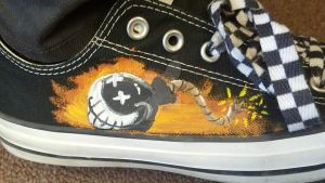 painted converse right shoe by Angry-Popcorn