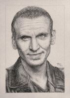 Drawing Doctor Who Project- Christopher Eccleston by Atarial