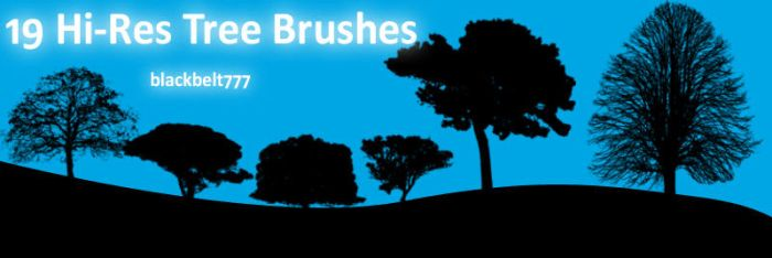 Hi-Res Tree Brushes by blackbelt777
