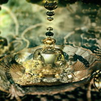 partly gold #2 - Mandelbulb3D with Parameter by matze2001