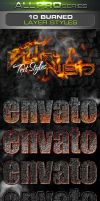 Burned Photoshop Text Styles by ravirajcoomar