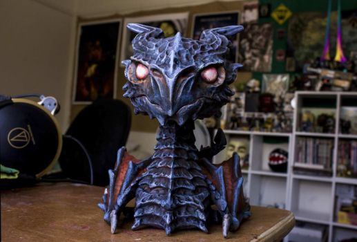 Custom Paint Alduin  - Pop Vinyl by ThirdhandHarpy