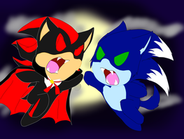 Chibi Rivals of The Night by MsLunarUmbreon
