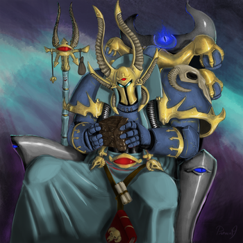 Ahriman and the Rubrics Cube by Protocol-9