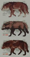 Semi-Realistic Wolf Adoptables Set 17 - CLOSED by Therbis
